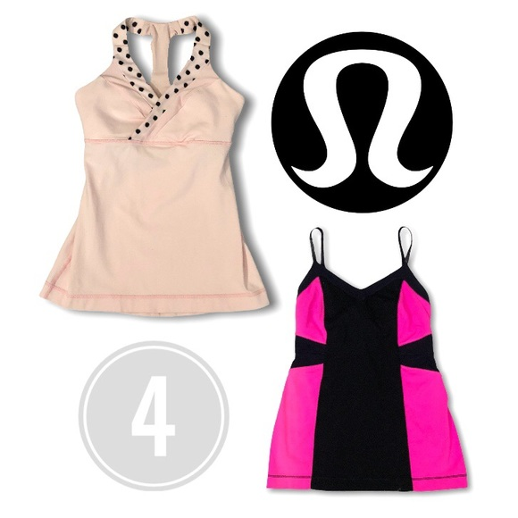 Lululemon BUNDLE 2 Tanks Pale Pink Polka Glitter 4